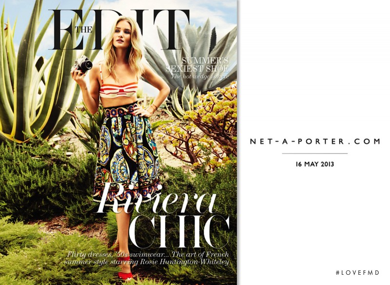 Rosie Huntington-Whiteley featured on the Net-A-Porter Magazine cover from May 2013