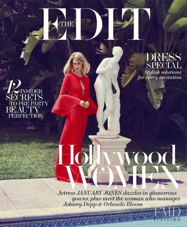 January Jones featured on the Net-A-Porter Magazine cover from May 2013