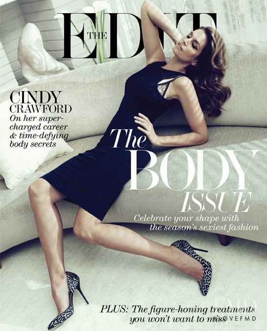 Cindy Crawford featured on the Net-A-Porter Magazine cover from May 2013