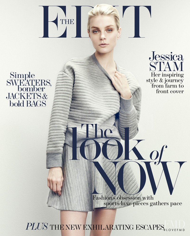 Jessica Stam featured on the Net-A-Porter Magazine cover from April 2014