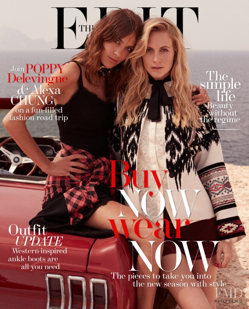 Alexa Chung, Poppy Delevingne featured on the Net-A-Porter Magazine cover from July 2014