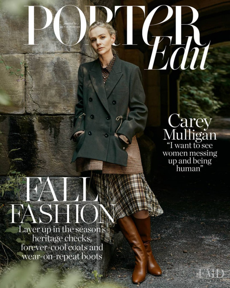 Carey Mulligan featured on the Net-A-Porter Magazine cover from November 2018