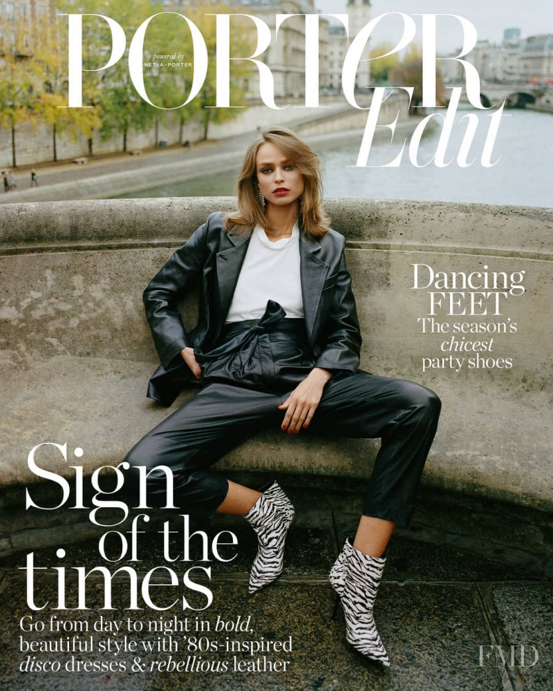 Birgit Kos featured on the Net-A-Porter Magazine cover from November 2018