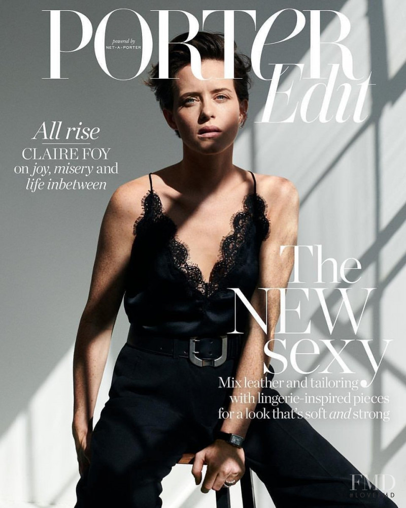 Claire Foy featured on the Net-A-Porter Magazine cover from October 2018