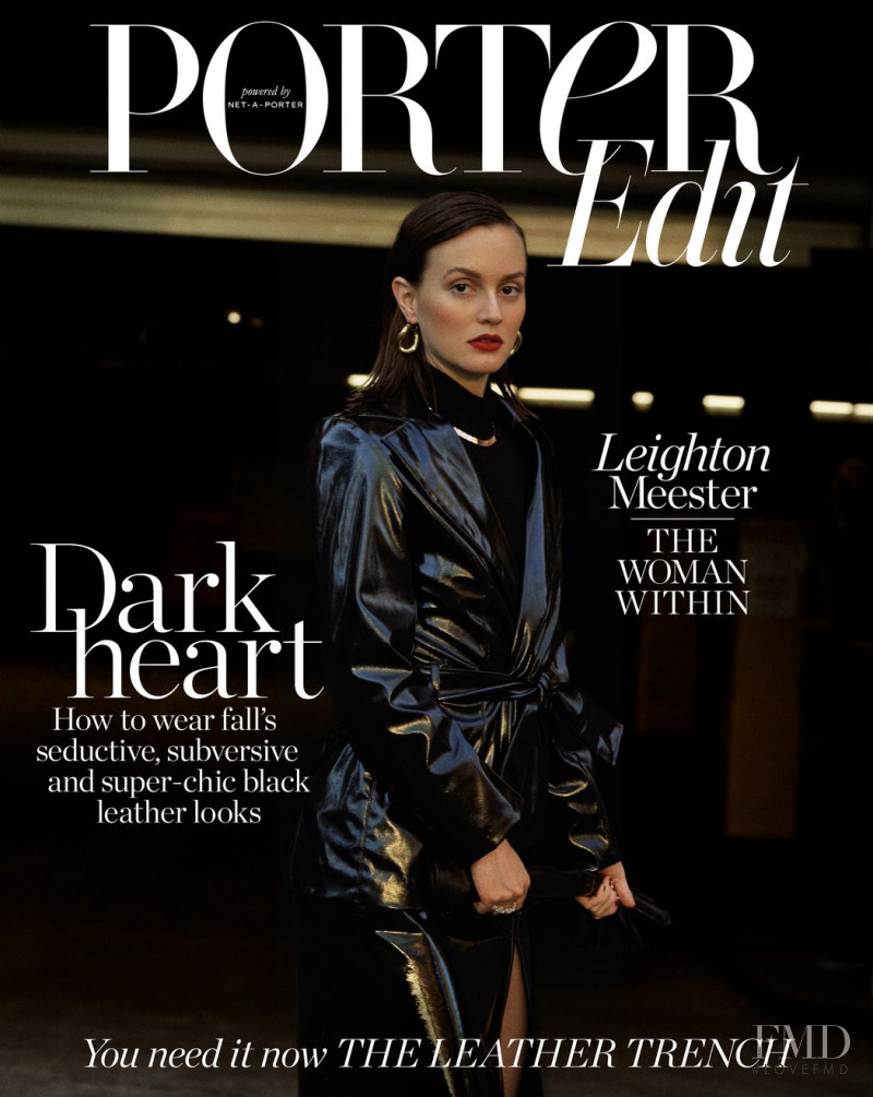 Leighton Meester featured on the Net-A-Porter Magazine cover from September 2018