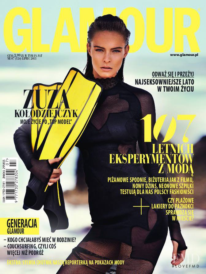 Zuzanna Kolodziejczyk featured on the Glamour Poland cover from July 2013