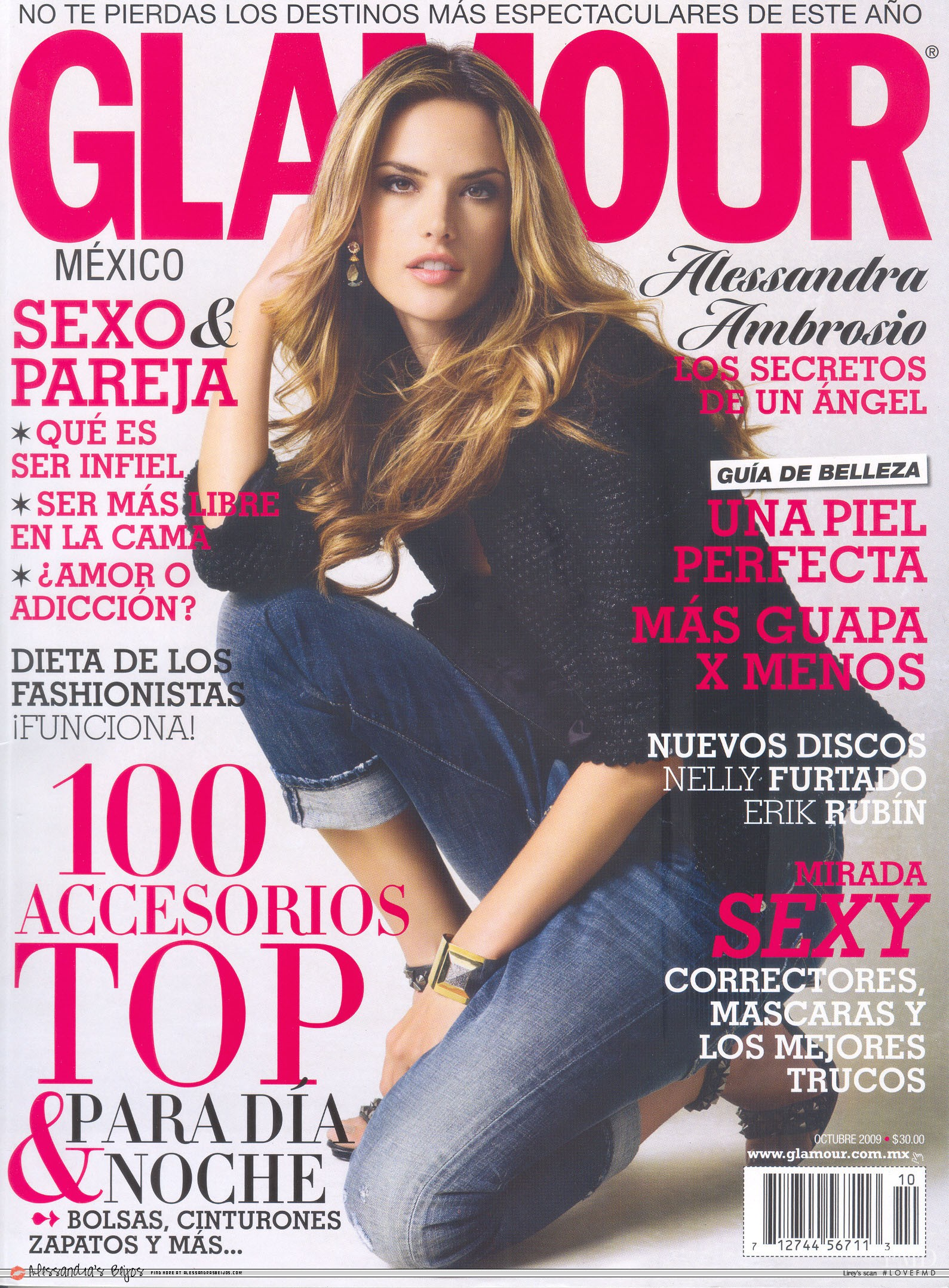 862150943b Cover of Glamour Mexico Latin America with Alessandra Ambrosio ...