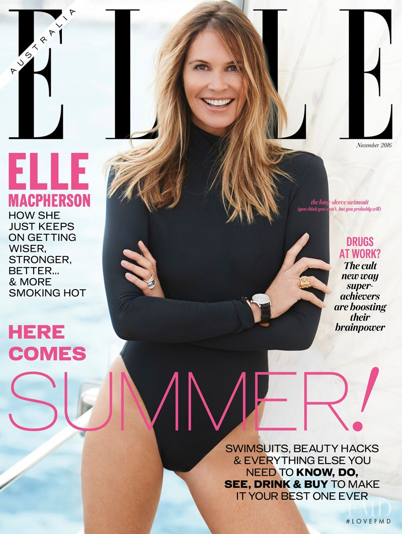 Elle Macpherson featured on the Elle Australia cover from November 2016