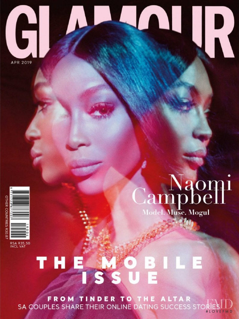 Naomi Campbell featured on the Glamour South Africa cover from April 2019