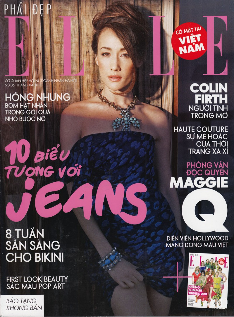 Maggie Quigley featured on the Elle Vietnam cover from April 2011