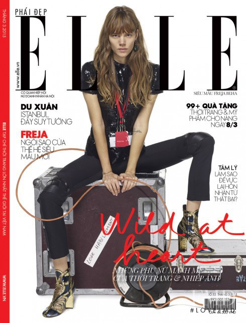 Freja Beha Erichsen featured on the Elle Vietnam cover from March 2015