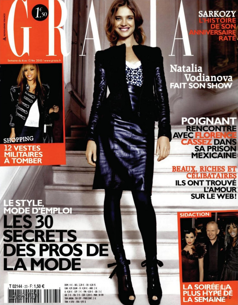 Natalia Vodianova featured on the Grazia France cover from February 2010