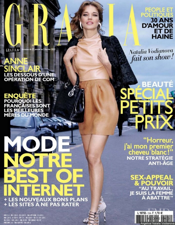 Natalia Vodianova featured on the Grazia France cover from January 2012