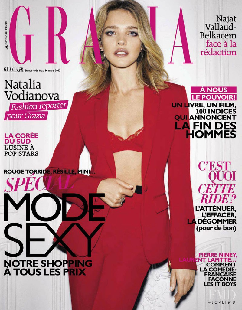 Natalia Vodianova featured on the Grazia France cover from March 2013