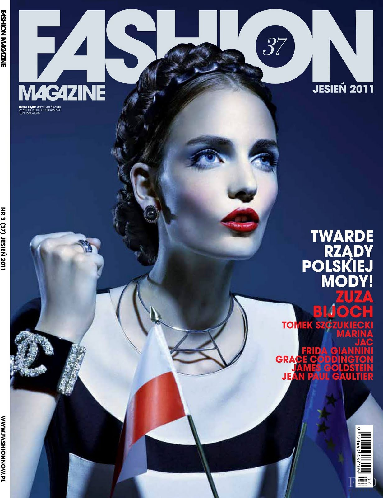 Cover Of Fashion Magazine With Zuzanna Bijoch, September