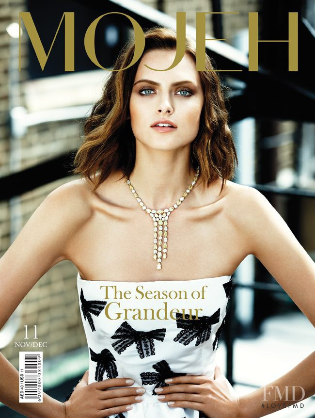Zuzana Gregorova featured on the MOJEH cover from November 2012