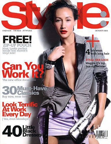 Maggie Quigley featured on the Style: Singapore cover from October 2003