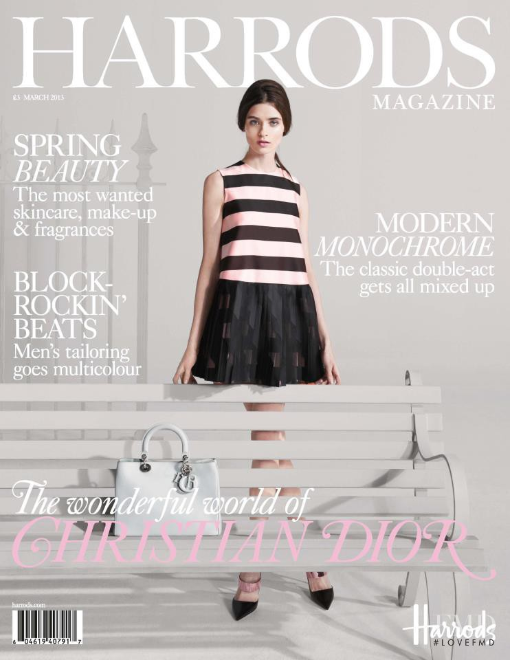 Carolina Thaler featured on the Harrods Magazine  cover from March 2013