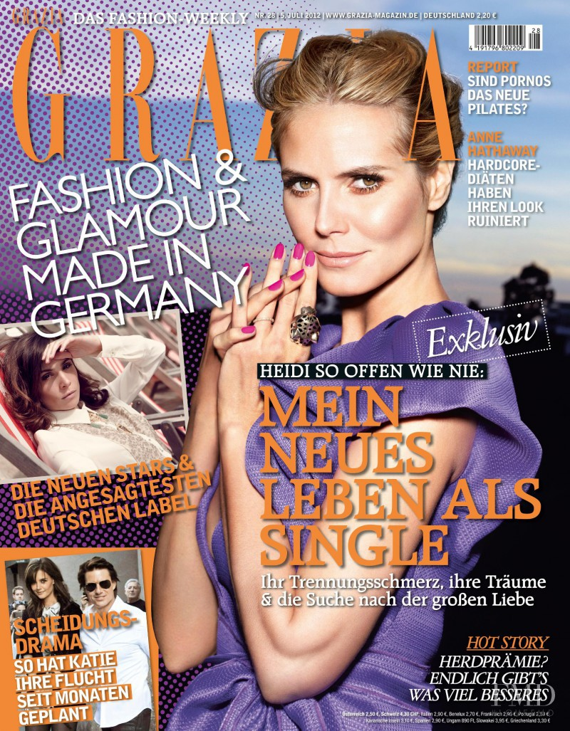 Heidi Klum featured on the Grazia Germany cover from July 2012