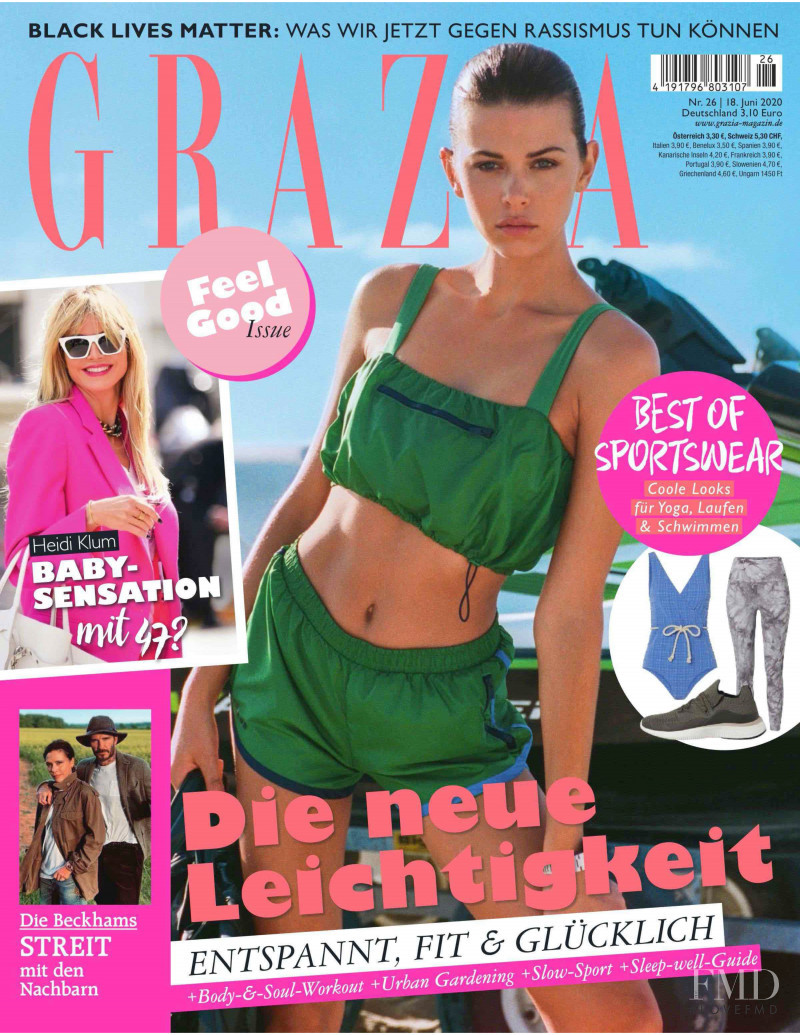 featured on the Grazia Germany cover from June 2020