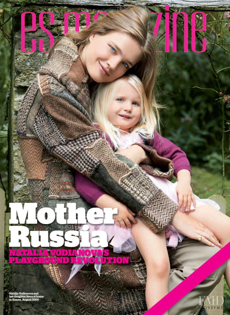 Natalia Vodianova featured on the ES Magazine cover from August 2009
