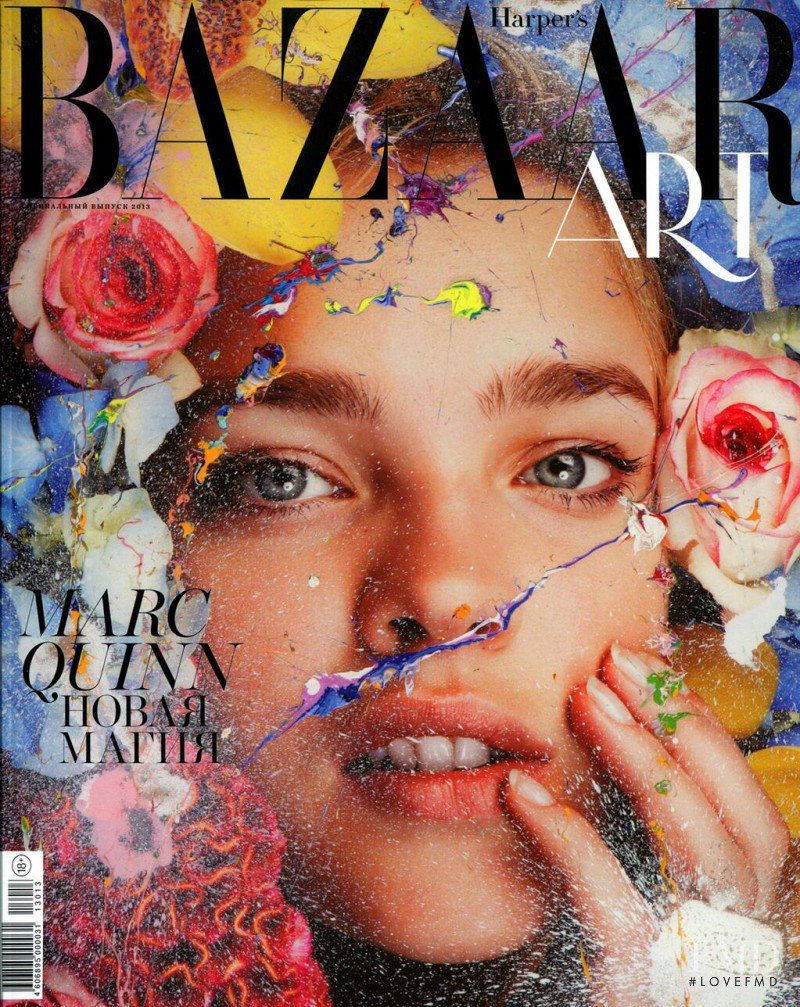 Natalia Vodianova featured on the Harper\'s Bazaar Russia cover from May 2013