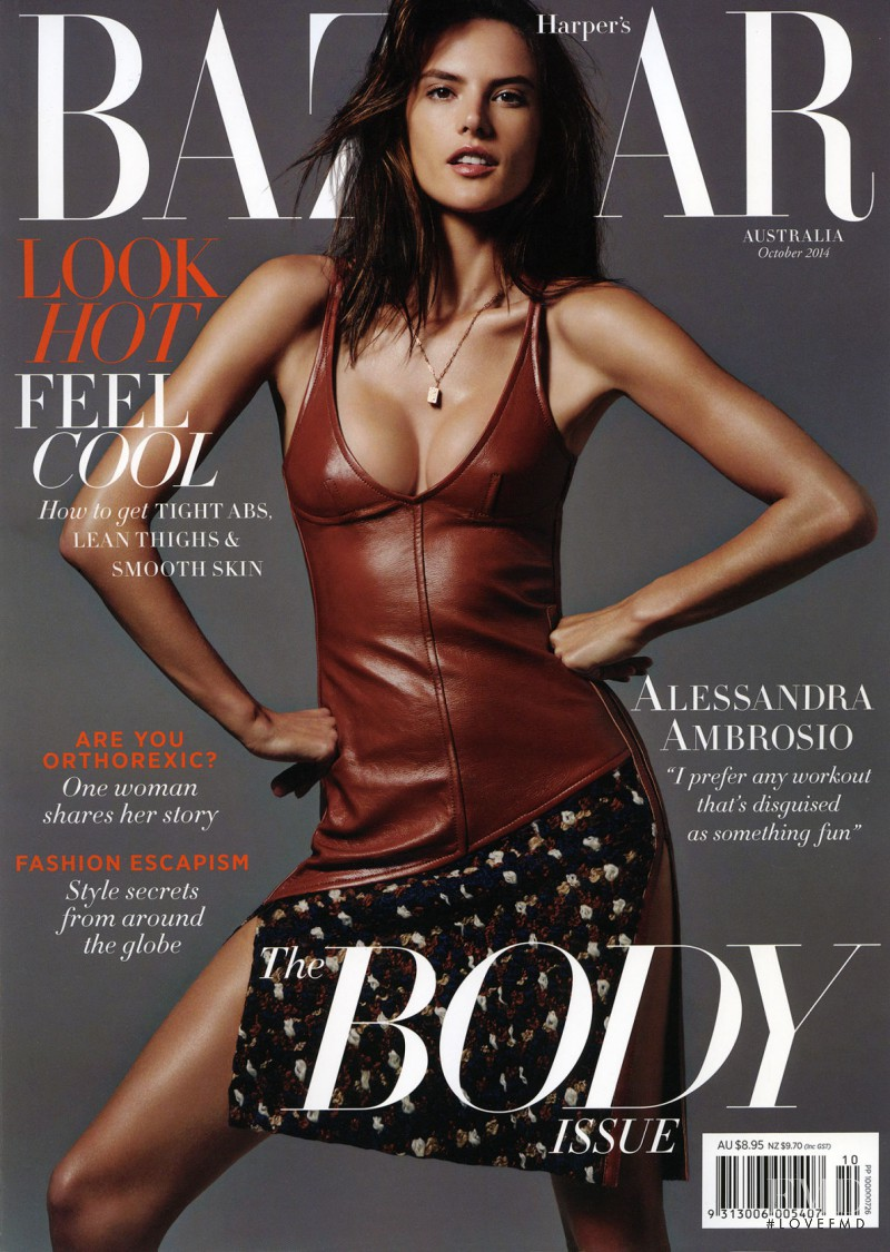 Alessandra Ambrosio featured on the Harper\'s Bazaar Australia cover from October 2014