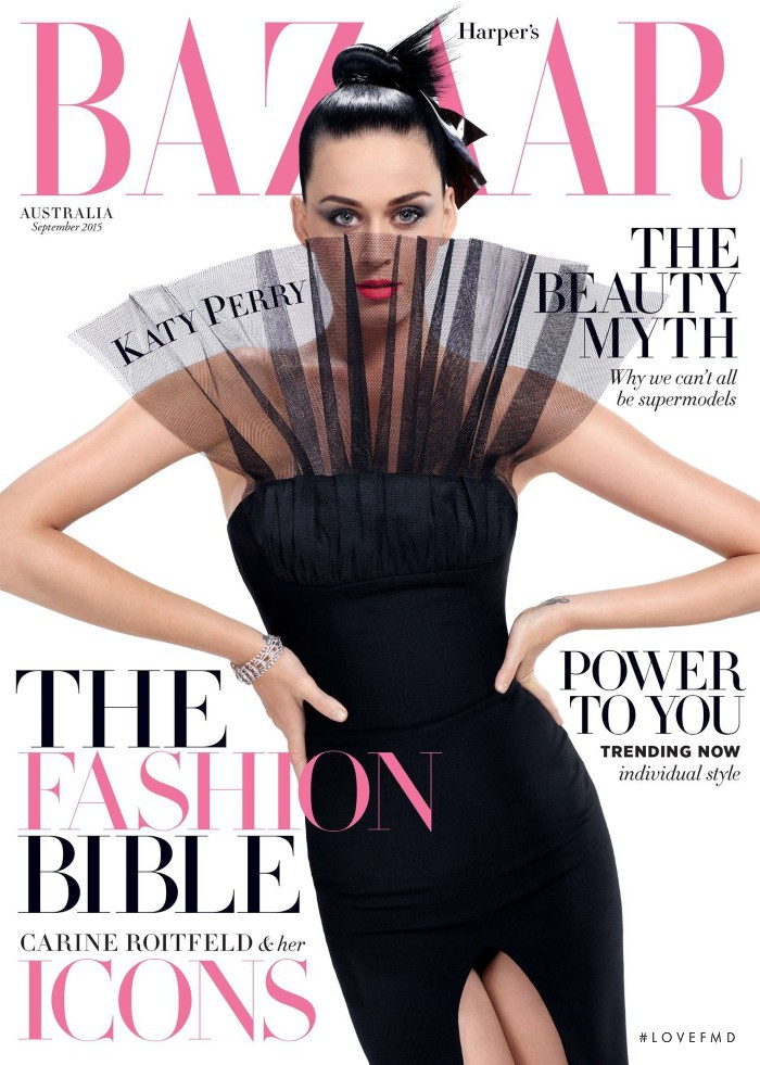Katy Perry featured on the Harper\'s Bazaar Australia cover from September 2015