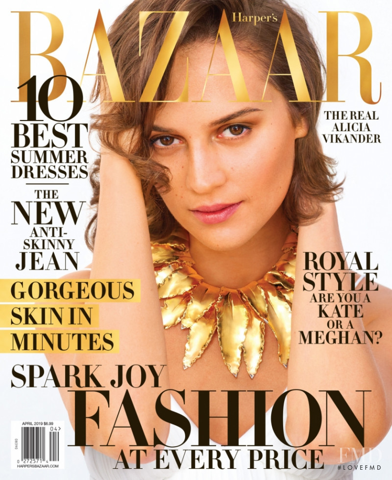 Alicia Vikander featured on the Harper\'s Bazaar Australia cover from May 2019