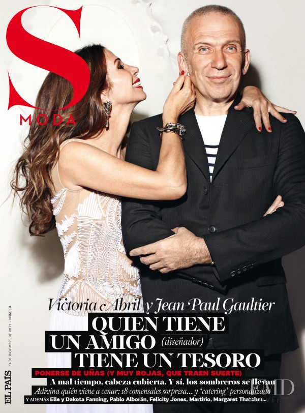 Victoria Abril, Jean Paul Gaultier featured on the S Moda cover from December 2011