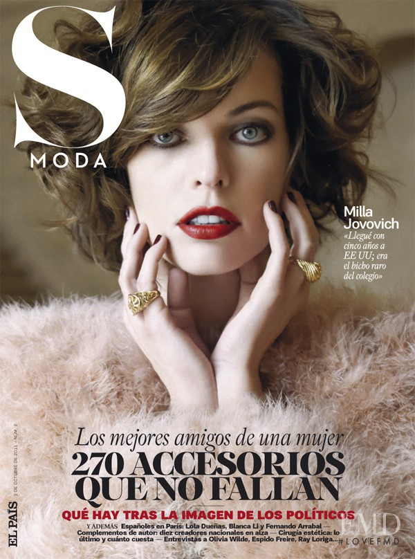 Milla Jovovich featured on the S Moda cover from October 2011