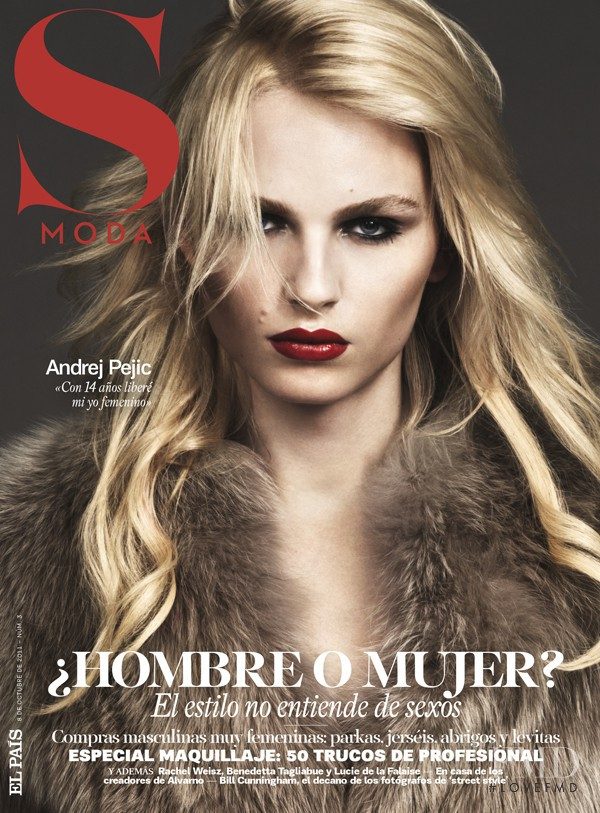 Andrej Pejic featured on the S Moda cover from October 2011