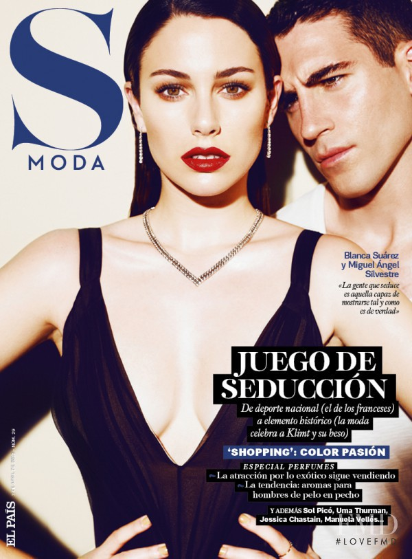 Blanca Suárez, Miguel Ángel Silvestre featured on the S Moda cover from April 2012