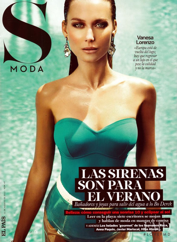 Vanessa Lorenzo featured on the S Moda cover from August 2012