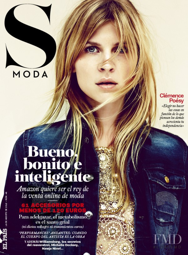 Clémence Poésy featured on the S Moda cover from August 2012