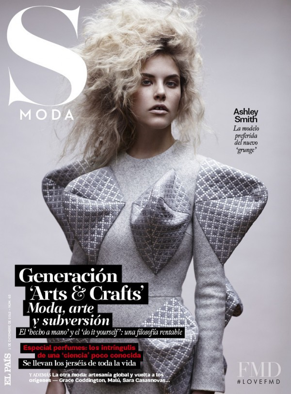 Ashley Smith featured on the S Moda cover from December 2012