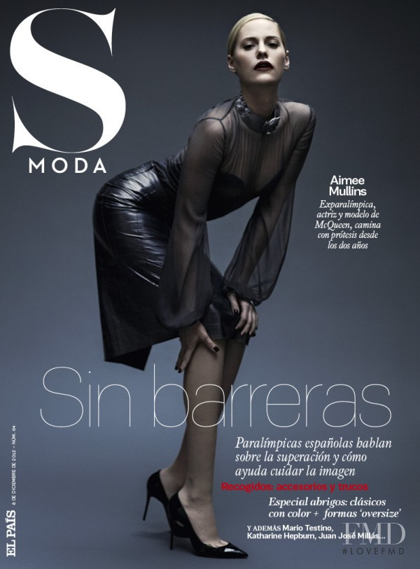 Aimee Mullins featured on the S Moda cover from December 2012