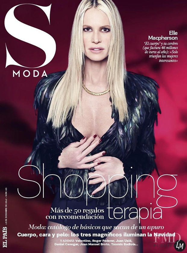 Elle Macpherson featured on the S Moda cover from December 2012