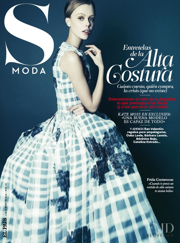 Frida Gustavsson featured on the S Moda cover from February 2012