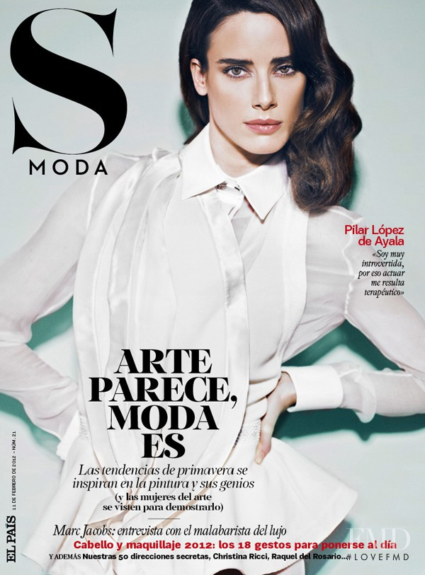 Pilar López de Ayala featured on the S Moda cover from February 2012