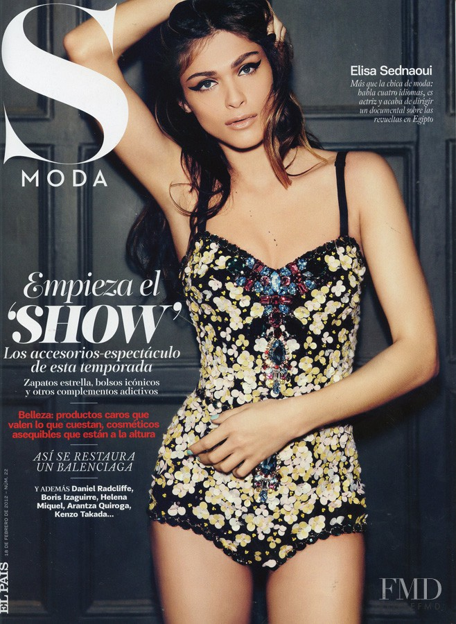 Elisa Sednaoui featured on the S Moda cover from February 2012