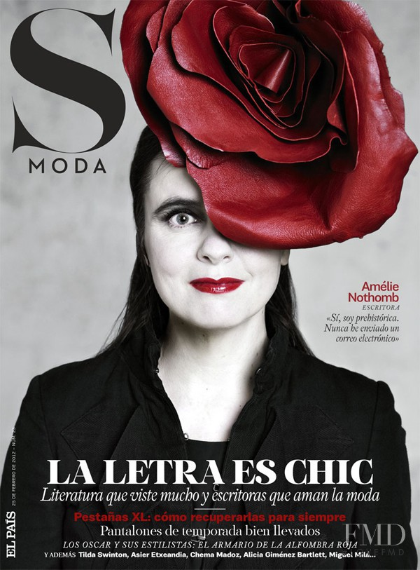 Amélie Nothomb featured on the S Moda cover from February 2012