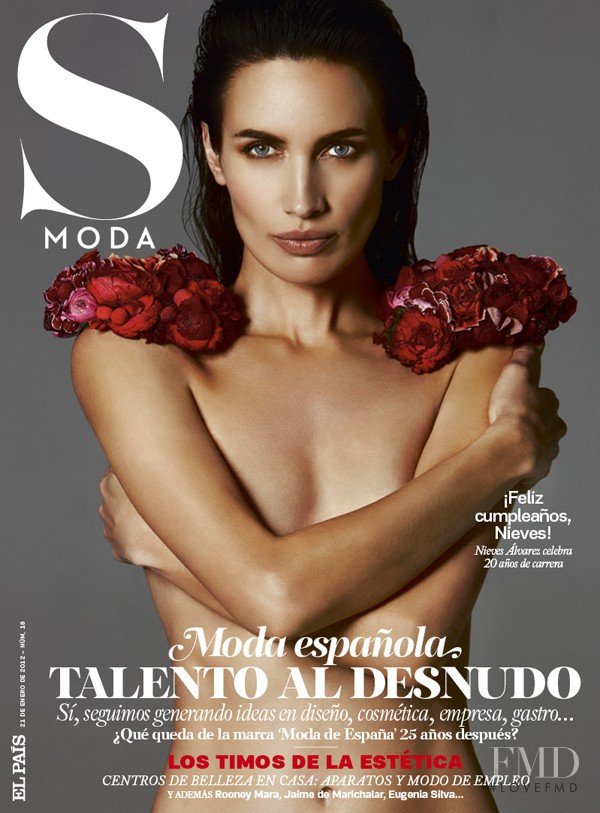 Nieves Alvarez featured on the S Moda cover from January 2012