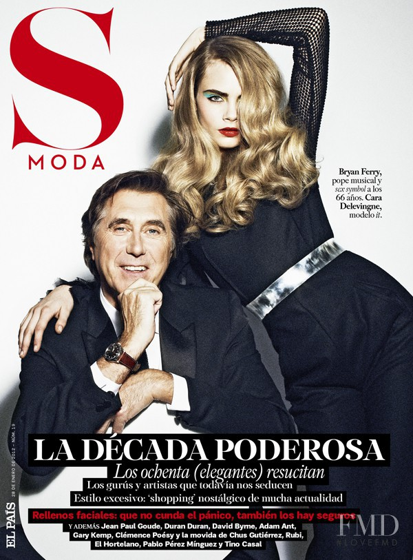 Bryan Ferry featured on the S Moda cover from January 2012