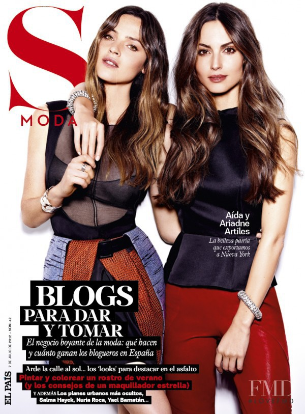 Ariadne Artiles, Aida Artiles featured on the S Moda cover from July 2012