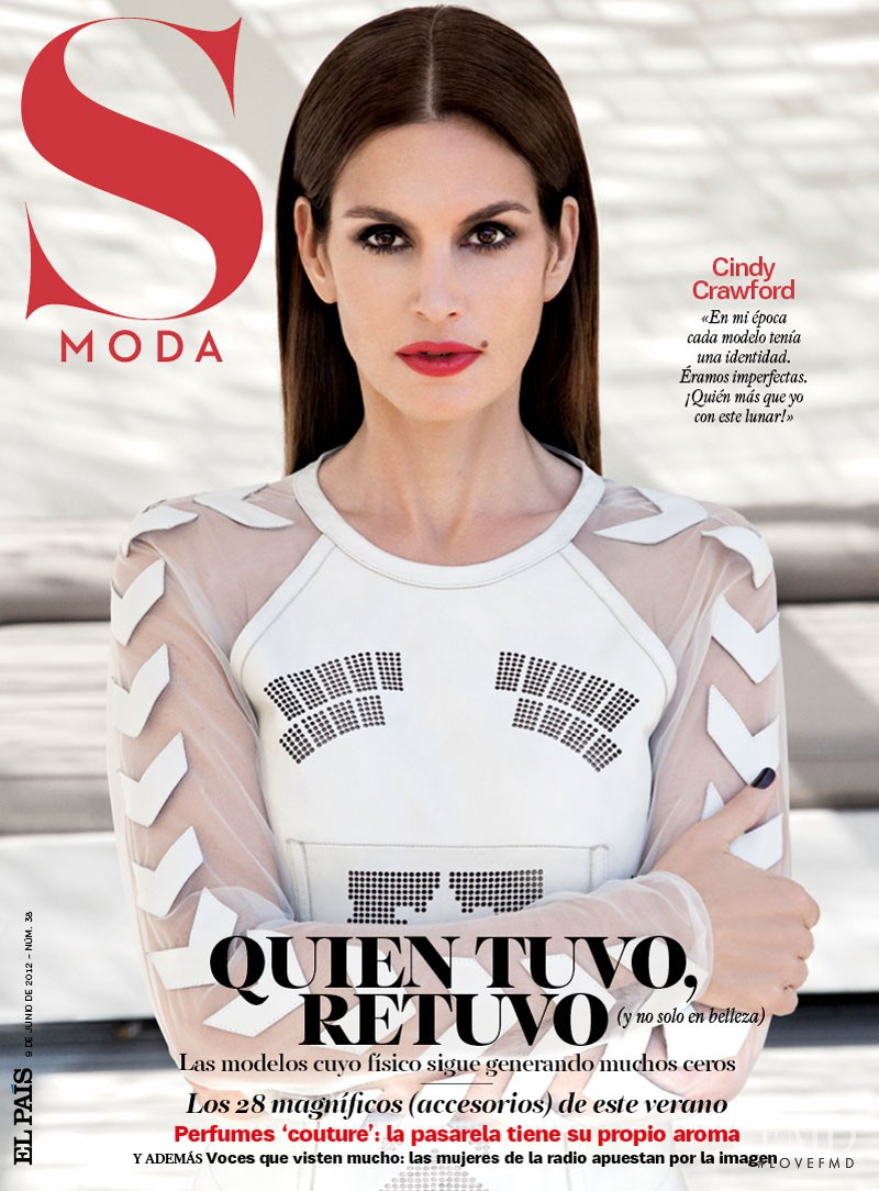 Cindy Crawford featured on the S Moda cover from June 2012
