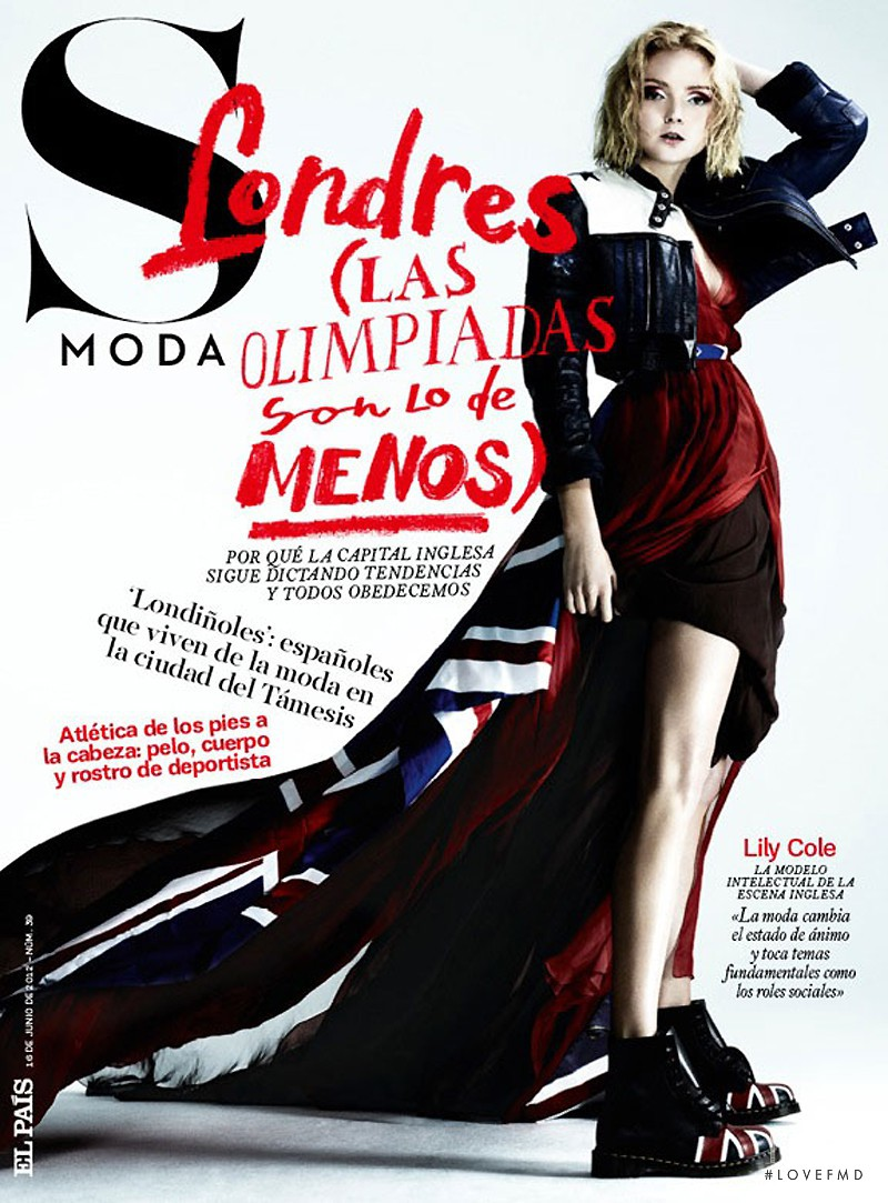 Lily Cole featured on the S Moda cover from June 2012