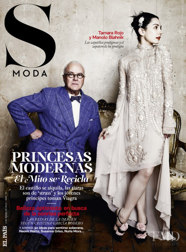 Manolo Blahnik, Tamara Rojo featured on the S Moda cover from March 2012