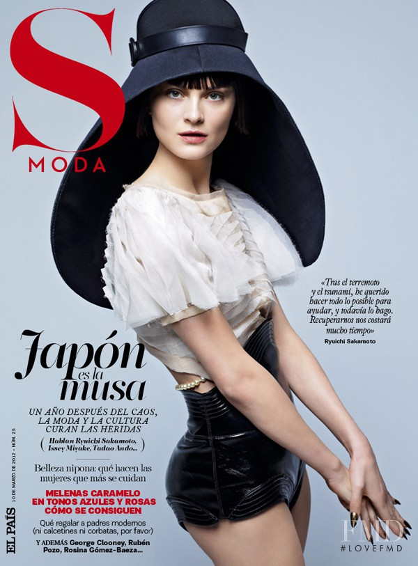 Anouck Lepère featured on the S Moda cover from March 2012