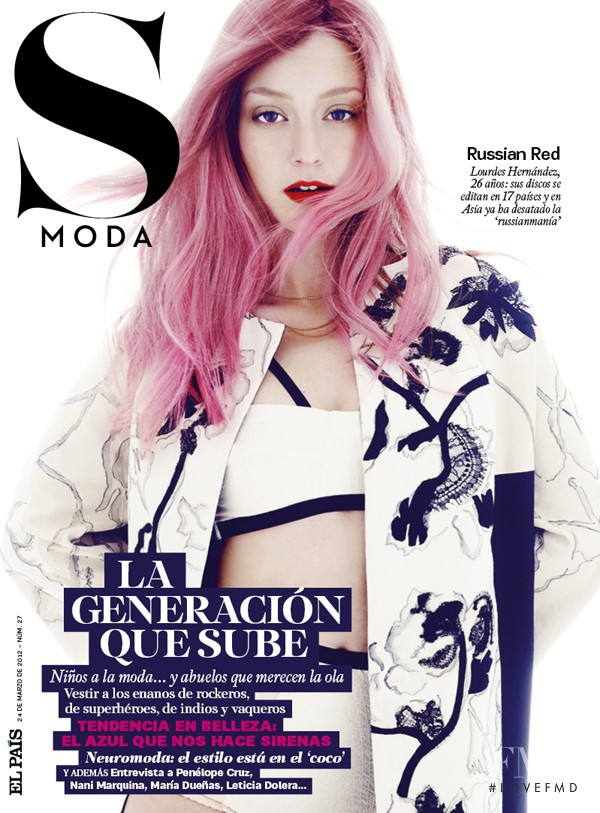Russian Red featured on the S Moda cover from March 2012